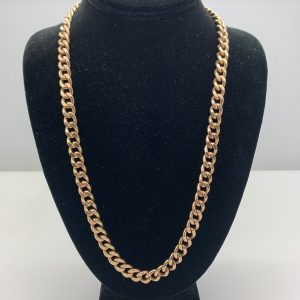 14k cuban link rose 24