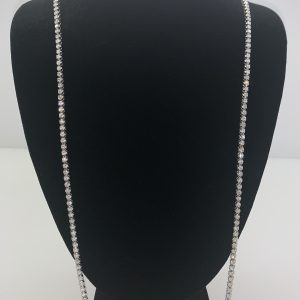 14k diamond chain white gold 30
