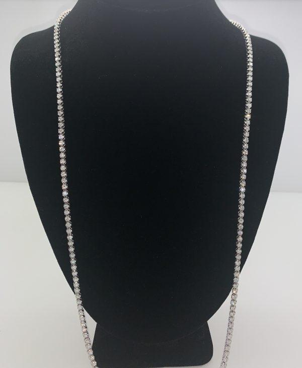 14k diamond chain white gold 30