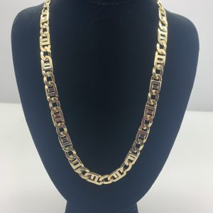 14k flat chain yellow gold 22