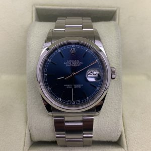 rolex datejust 36mm blue dial oyster bracelet