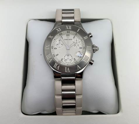 CARTIER MUST 21 CHRONOGRAPH WHITE